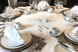 Silver Service Table