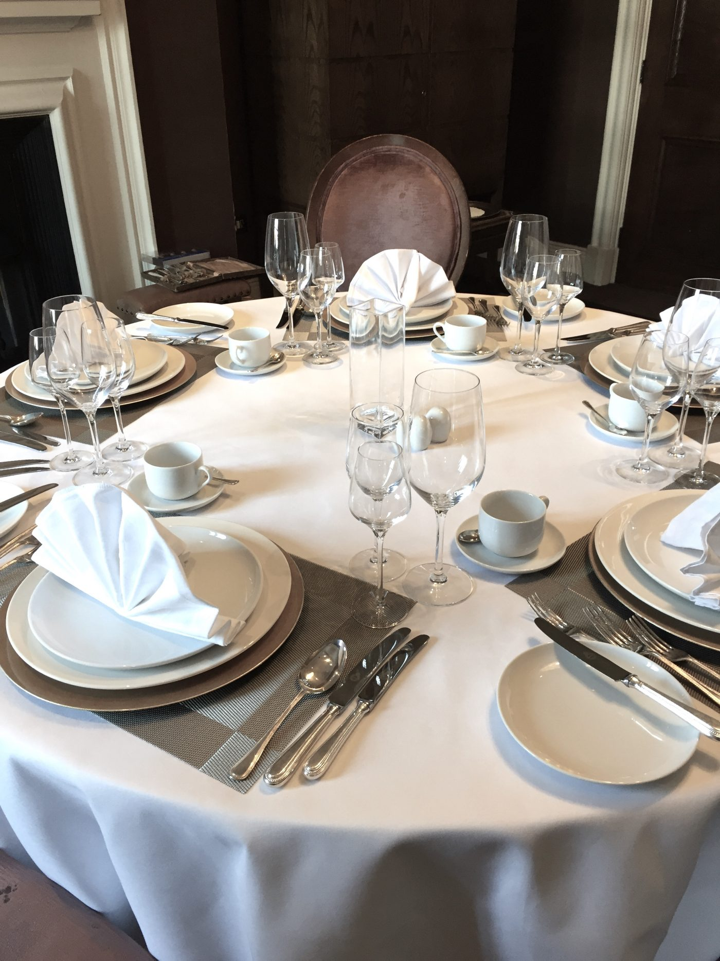 Silver Service Table