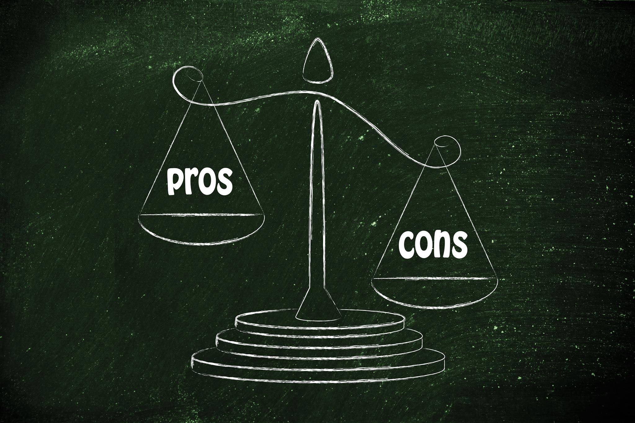 """A decorative picture of pros and cons to better elaborate """"The asigo system review"""""""