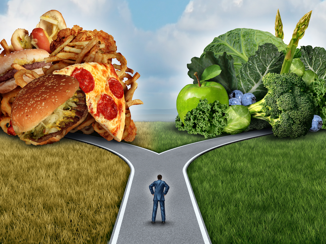 healthy choices and sticking to a diet