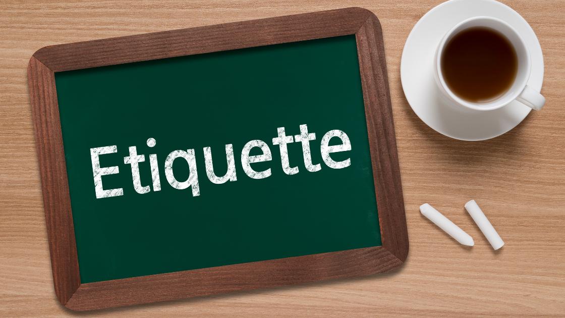 etiquette board
